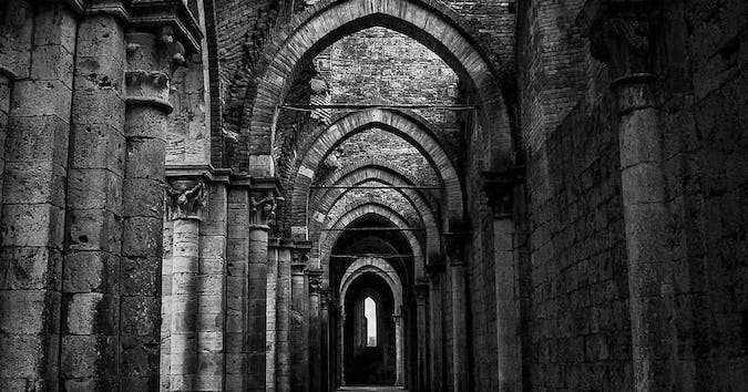 empty-gothic-building-hallway